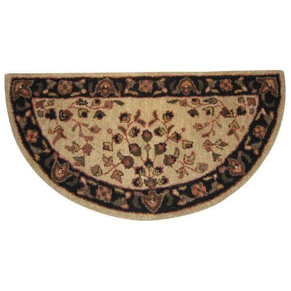 Fireplace Accessories - Woodfield 100% Wool Hearth Rug - Oriental, Beige #61145