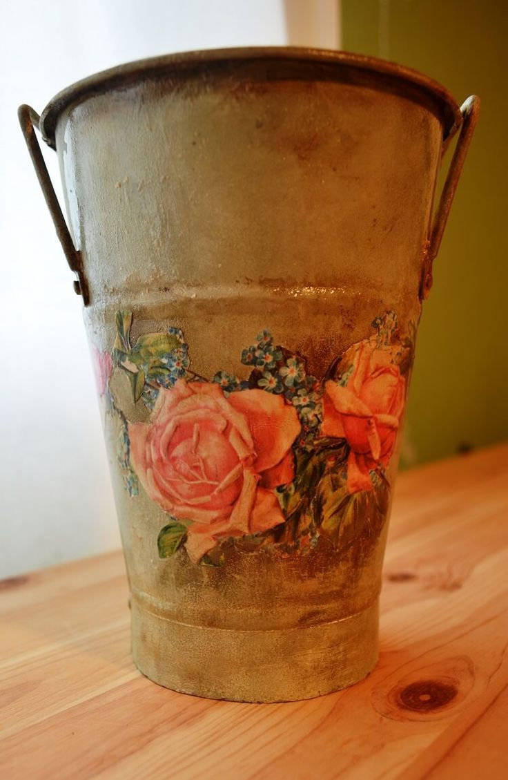 How To Decoupage On Metal. Your beautiful object is ready