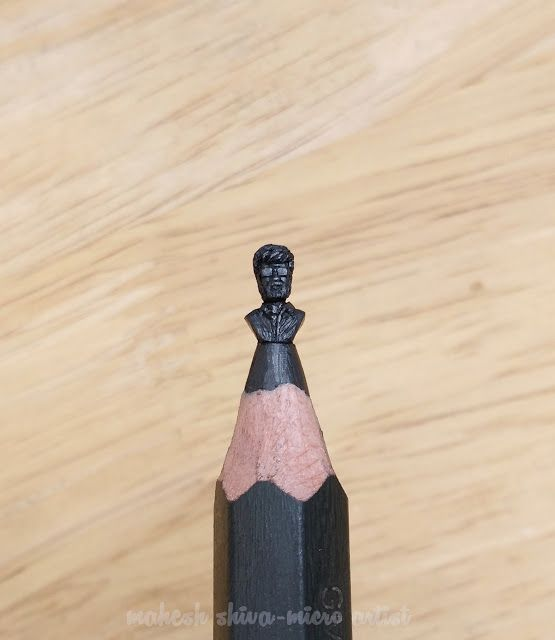 Mahesh Shiva Micro Art: kabali sculpture on pencil lead thalaivar rajinikanth on pencil lead