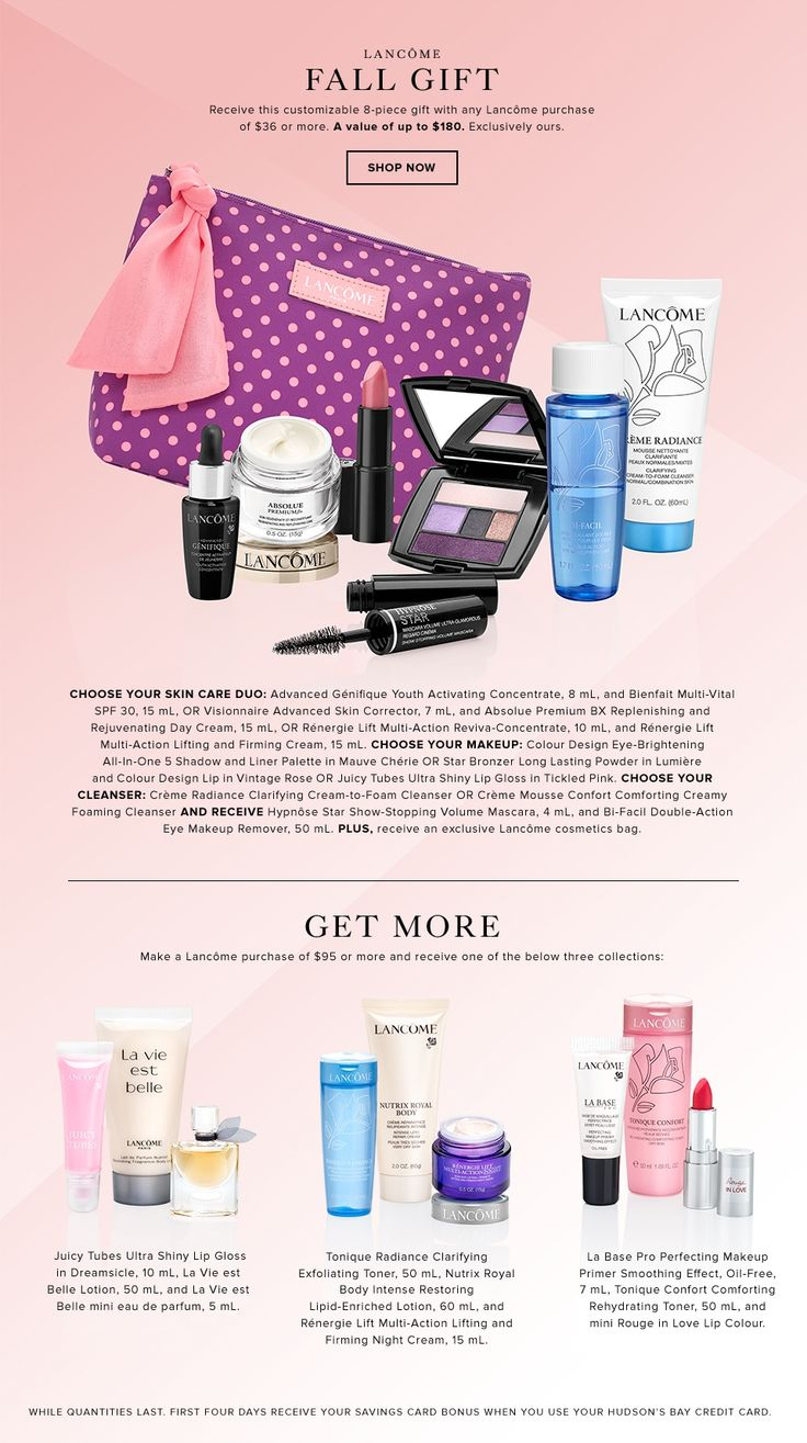 Hudson's Bay Lancôme GWP, October 2015