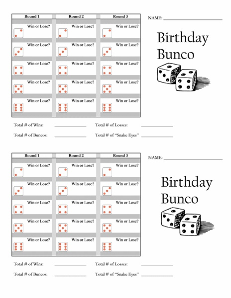 17 Best Bunco Forms Images On Pinterest | Bunco Party, Bunco Ideas