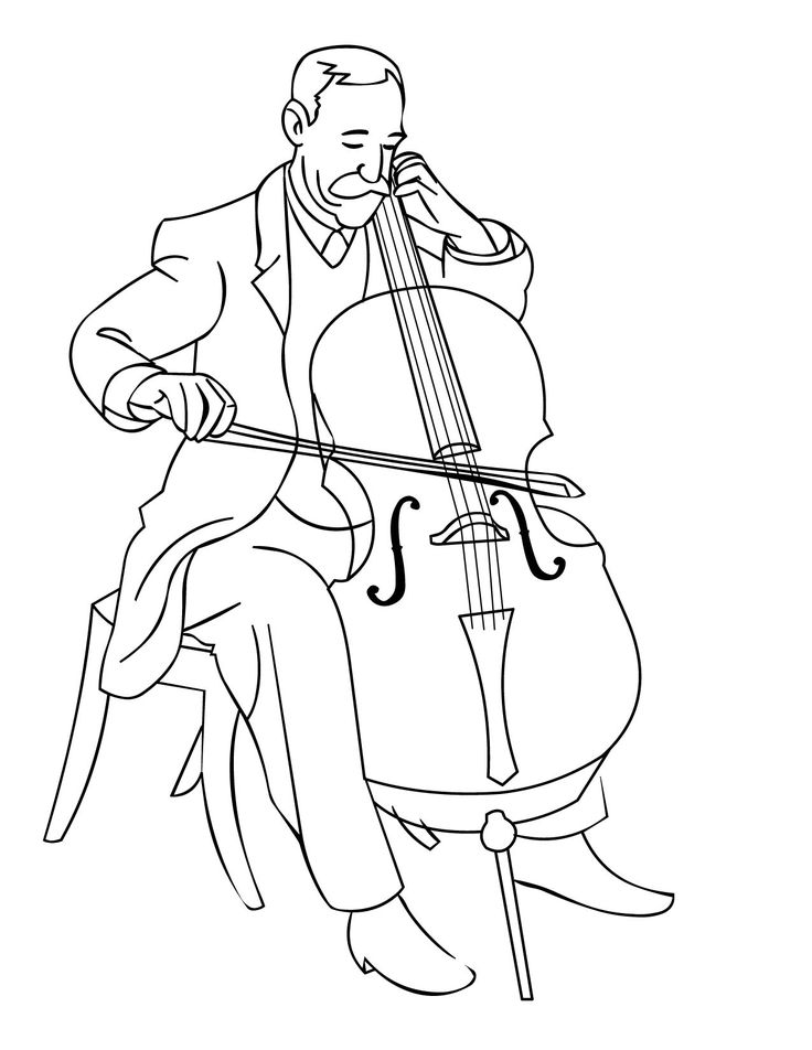 kid playing band instruments coloring pages | 95 best Coloring/Painting Pages images on Pinterest ...