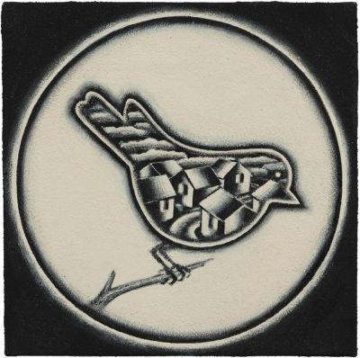 Bird with Village
