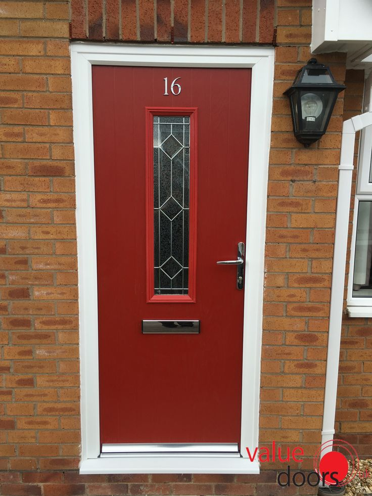 The Sheffield Composite Door in Red with Simplicity. Value Doors UK offer a range of & 102 best Previous Installations images on Pinterest | Front doors ... Pezcame.Com