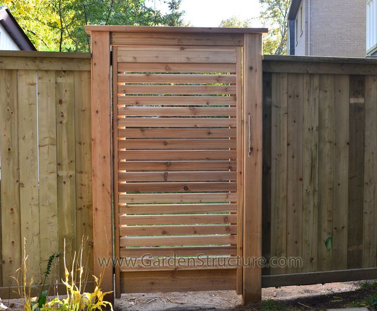 Wood Fence And Gate Ideas Red Cedar Horizontal Gate In Pressure Treated Fence Home