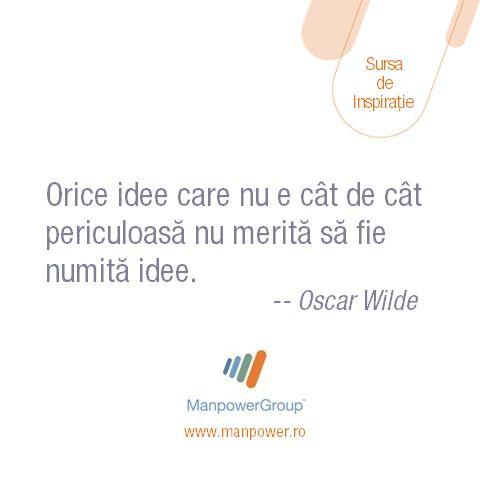 Oscar Wilde despre idei si curaj