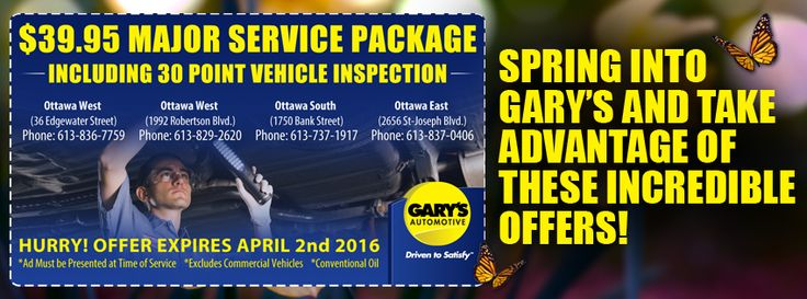 #GarysAutomotive - Get your vehicle ready for spring. Call us today: http://ow.ly/ZqFXU