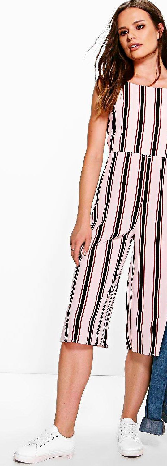 Jonna Striped Culotte Style Jumpsuit - Jumpsuits  - Street Style, Fashion Looks And Outfit Ideas For Spring And Summer 2017