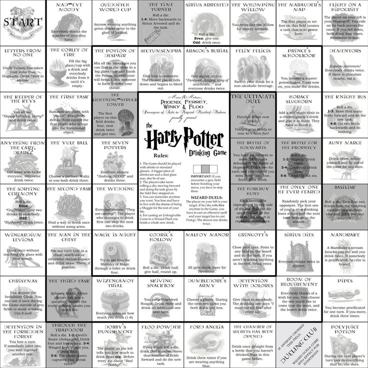 Harry Potter Drinking Game... How did I not know about this? Nicola, hierdie gaan ons doen