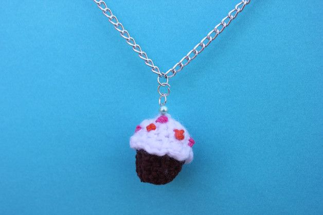 Charm Necklaces – Cupcake shaped necklace – a unique product by DanyCream on…