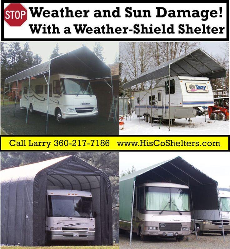 Make your own portable carport shelter kits long lasting for Rv garage kits