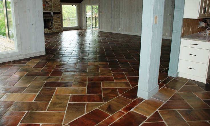 12 X 24 Inch Manganese Saltillo Mexican Tile