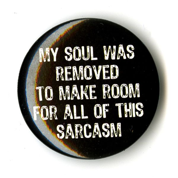 Soul Sarcasm Pin | Hot Topic ($1.99) ❤ liked on Polyvore featuring jewelry, brooches, accessories, pins, buttons, fillers, pin jewelry, pin brooch and button jewelry