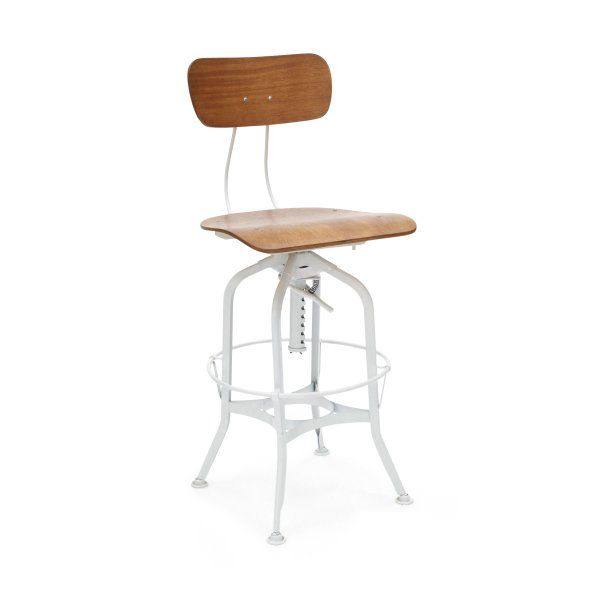 Uhl #Toledo #Industrial #Stool #white $229 from Stools and Chairs Online  http://www.stoolsandchairs.com.au/replica-toledo-industrial-bar-stool-white/