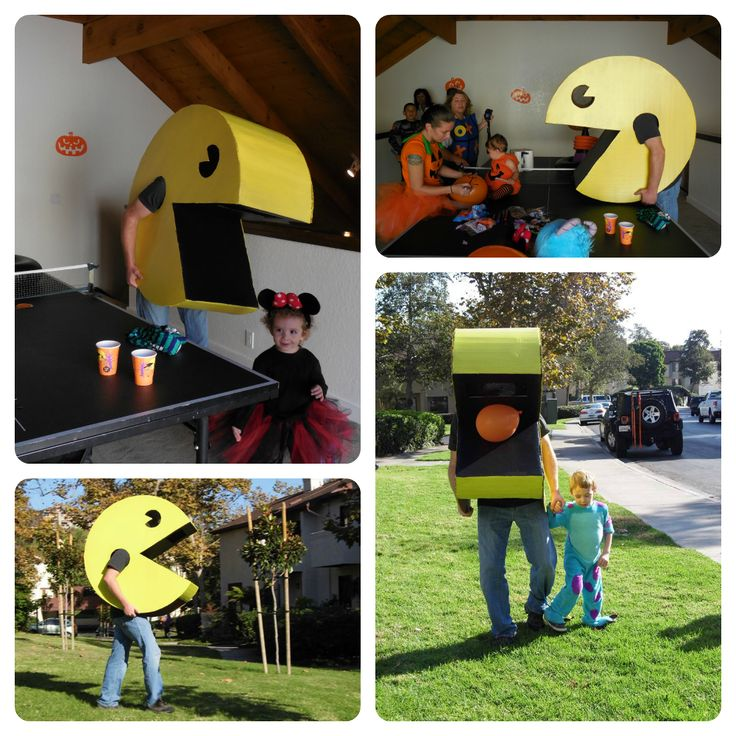 For Halloween I wanted to be Pac-Man. Figuring it out took a little ingenuity, but overall wasn't too bad!   Supplies:  $0 Cardboard ...