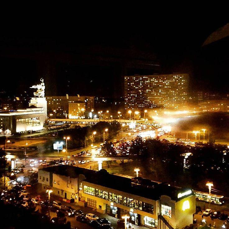 #видсверху #колесообозрения #вднх #рабочийиколхозница #topview #instacity #nightlife #nightcity #ночнойгород #ночнаямосква