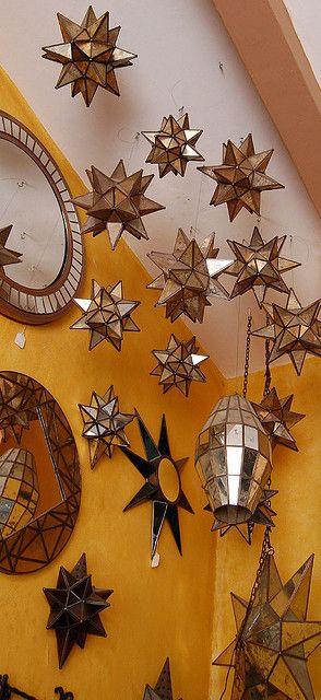 Lámparas de estrella de Guanajuato.