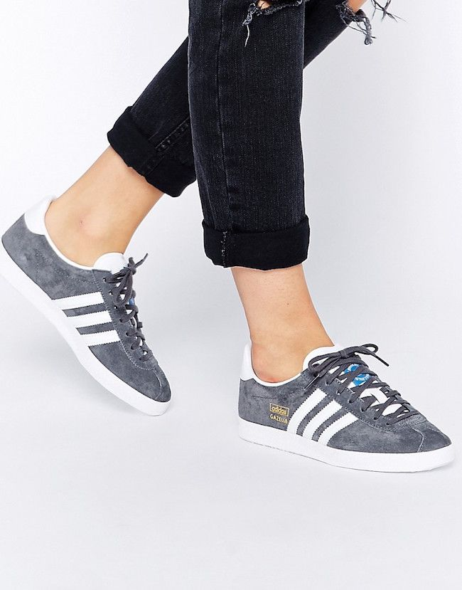 adidas gazelle mujer gris oscuro