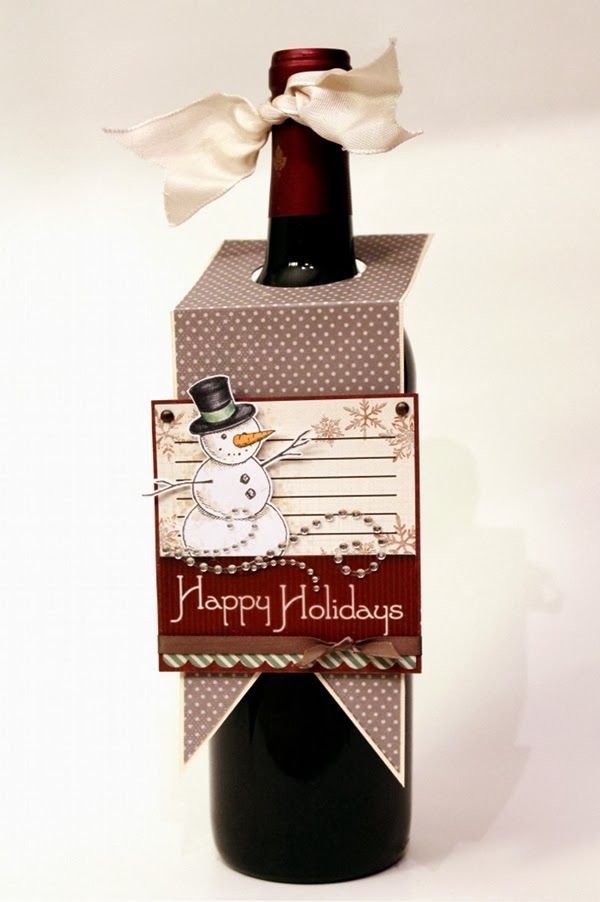 Too cute for words!  Wine Bottle Tags DIY by Paper, Ink and Smiles.