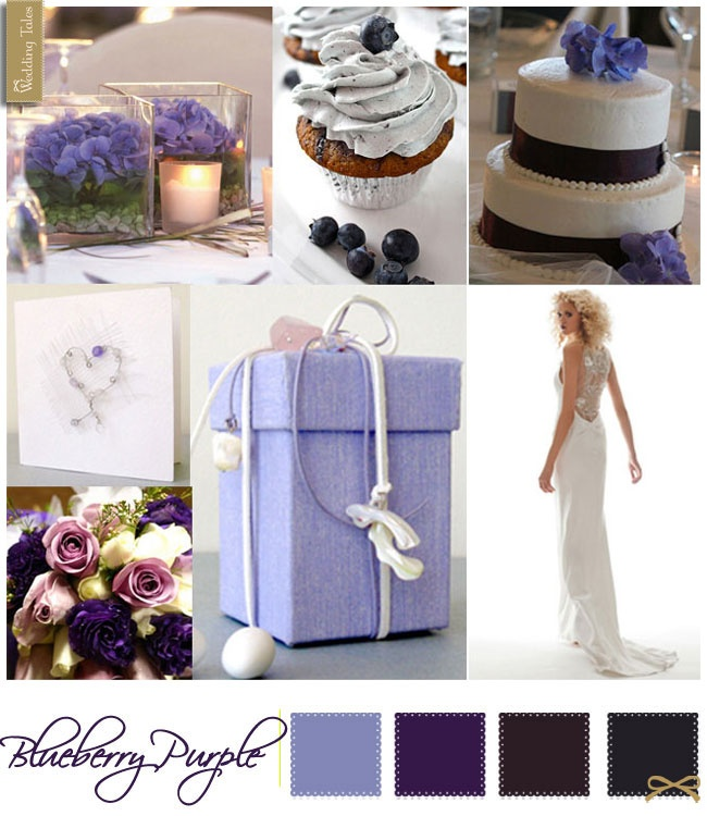 Wedding Moodboard | Blueberry Purple