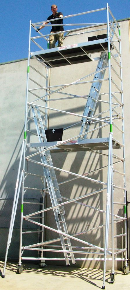 Aluminium Scaffolding 450kg Mobile Scaffold - 8.5m Access Height Scaffold