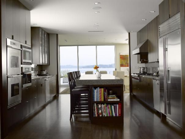 Photo of Brown Contemporary Kitchen project in Seattle, WA by NB Design Group