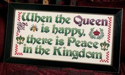 A Happy Queen- Cross Country Stitching - A Magazine Devoted to Cross Stitch and Counted Cross Stitch