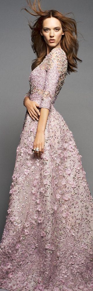 Dovile Virsilaite in Elie Saab haute couture.  Photography by Benjamin Kanarek for Harpers Bazaar.