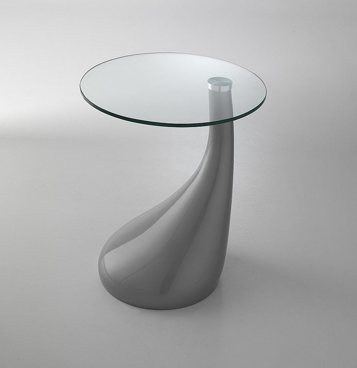 Round white/red/black/grey resin coffee table Pop by Tomasucci