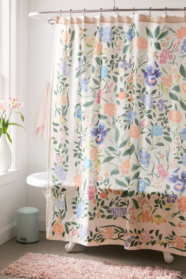 Jacinta Floral Shower Curtain In 2020 Cute Shower Curtains