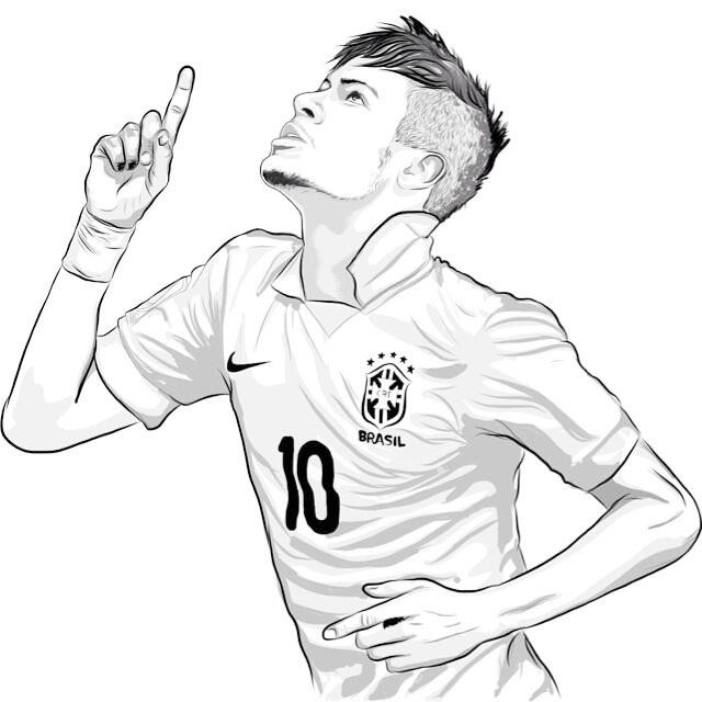 Neymar Top Soccer Player Coloring Sheet Soccer Drawing Sports Coloring Pages Soccer Players