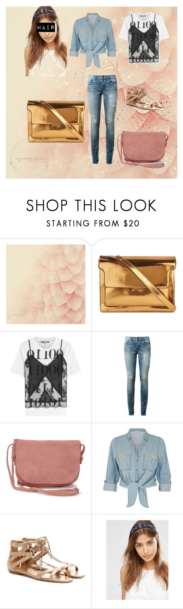 """""""Untitled #31"""" by marpocorn ❤ liked on Polyvore featuring beauty, Marni, McQ by Alexander McQueen, Yves Saint Laurent, TOMS, ZAK, Aquazzura and Made"""