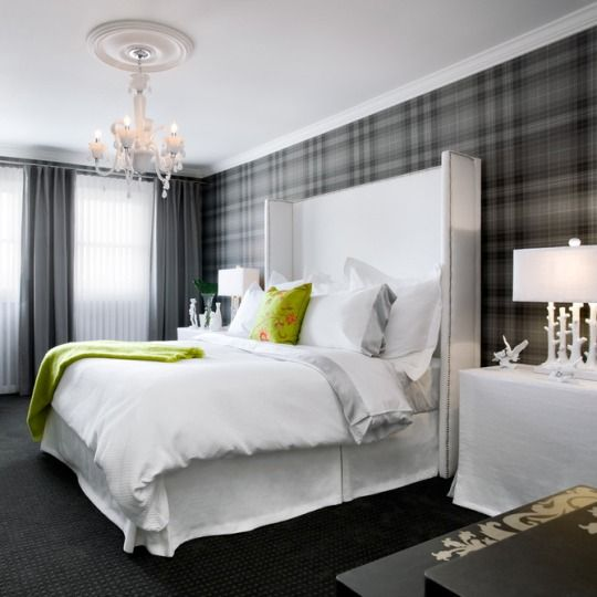 Love the modern twist of a traditional motif with this Graham and Brown Marcel Wanders plaid wallpaper