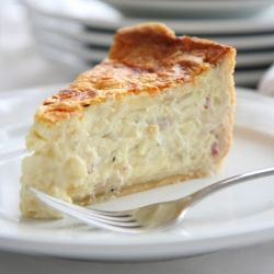 Tall, creamy, custardy - the best quiche I've ever eaten #foodgawker