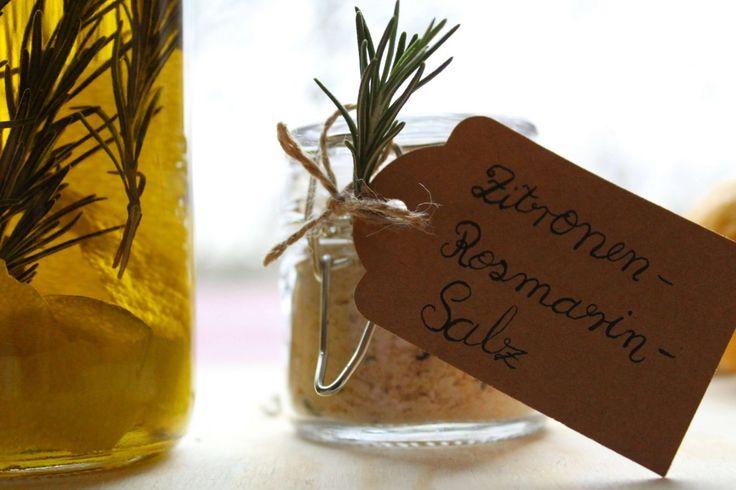 Zitronen-Rosmarin-Salz | Rezept | Öl selber machen