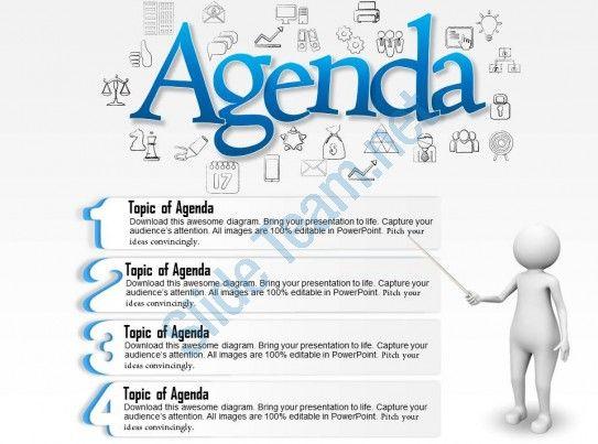 power point agenda slide