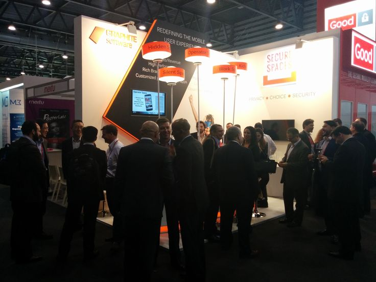 #MWC15 booth @Graphitesoft#SecureSpaces wine and cheese #event