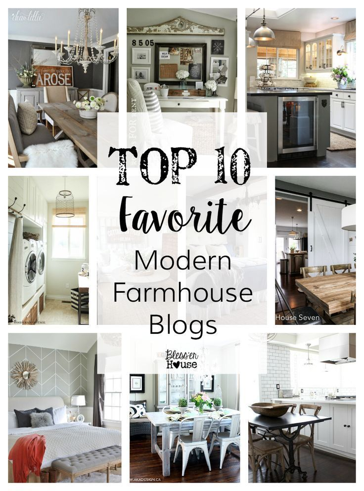 Top 10 Favorite Modern Farmhouse Blogger Home Tours | Bless'er House - Every single one of these is gorgeous!  You might as well clear your schedule for the next hour.