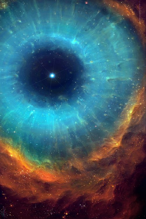 ...we ARE created in God's image...the Universe...our God...we are one...we are the Universe. There is no separation; only the illusion of being separate from.