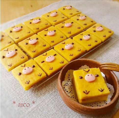 キイロイトリのパンプキンケーキ♡