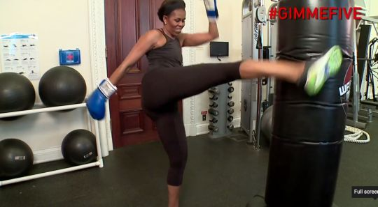 See First Lady Michelle Obama demonstrate the top five workout moves she relies on to stay in shape.  GO Flotus!!!