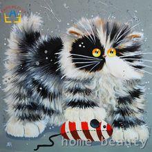 Diy olieverf by numbers canvas acryl muur schilderen kalligrafie kinderen olie coloring verf by nummer cartoon katten y072(China (Mainland))