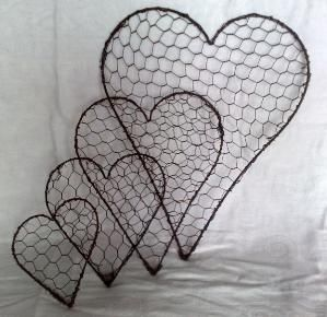 .wire heart, chicken wire hearts by ibeme66