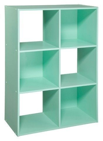 6-Cube Organizer Shelf a great way to help your young child keep his or her room neat or to give the college bound young adult a little more storage space.