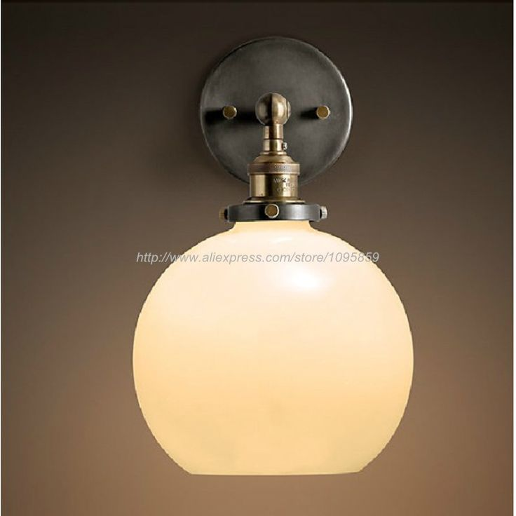 59.00$  Buy here - http://alint9.shopchina.info/go.php?t=32482708117 - Free Shipping Vintage Clear/Milk White Bedroom Glass Ball Wall Lamps Lights Fixtures Sconces Lighting 59.00$ #buymethat