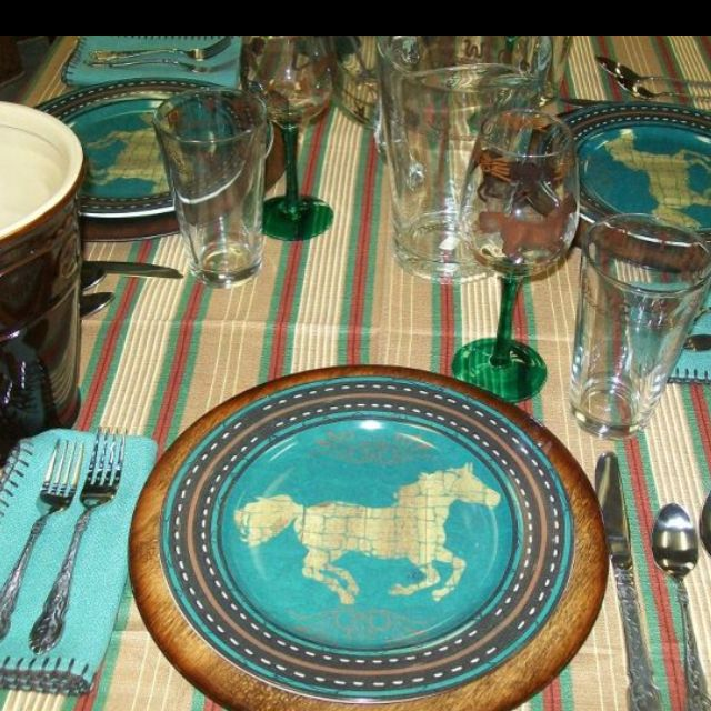 Kitchen Decor Turquoise: Western Kitchen Decor, Turquoise Cabinets And