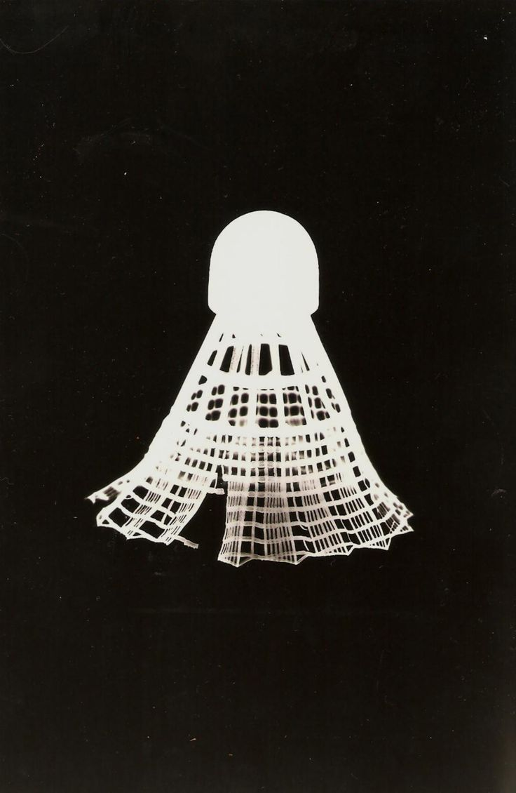 Shuttlecock/Badminton photogram - (…more sports photograms/rayographs soon-ish) for more photograms go to my blog &/or click here