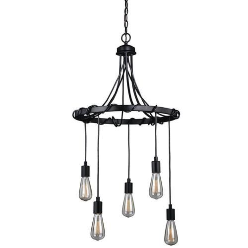 Patriot LightingR Wallis 22 Dark Bronze 5 Light Chandelier
