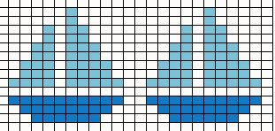 Sail Boat Needle Point Chart