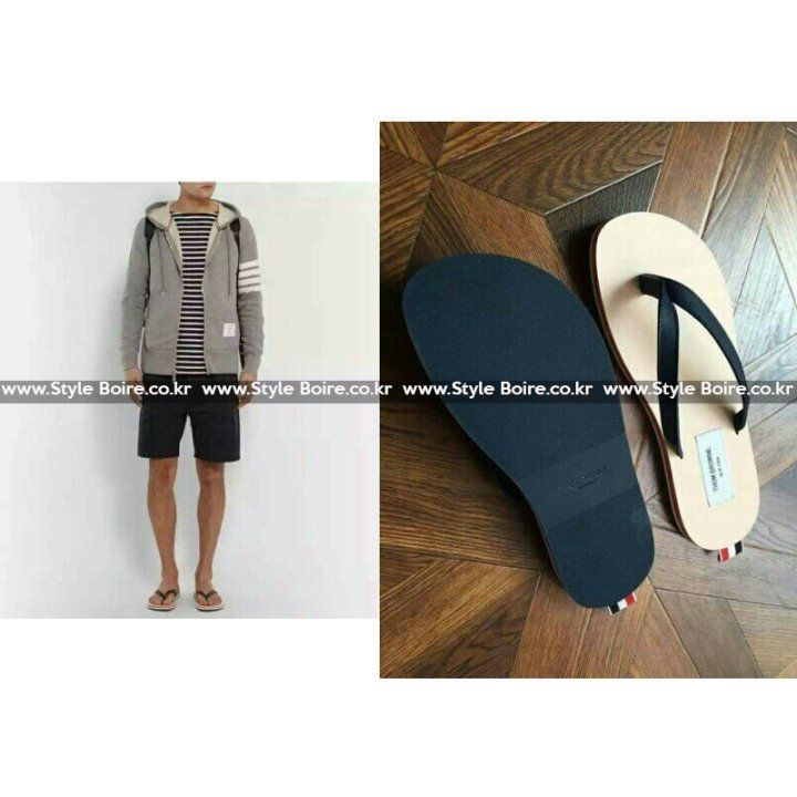 Thom Browne Leather Flip Flap Shoes  톰브라운 리얼가죽 플립플랍 쪼리 샌들